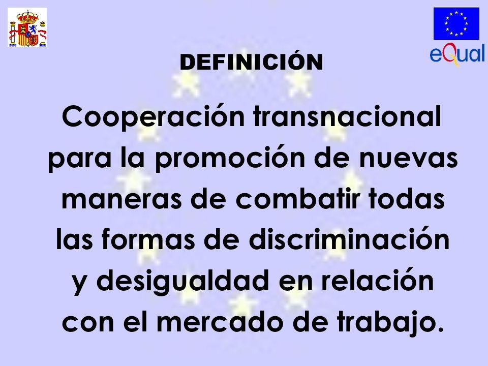 Cooperación transnacional para la promoción de nuevas maneras de combatir todas las formas de discriminación y desigualdad en relación con el mercado de trabajo.