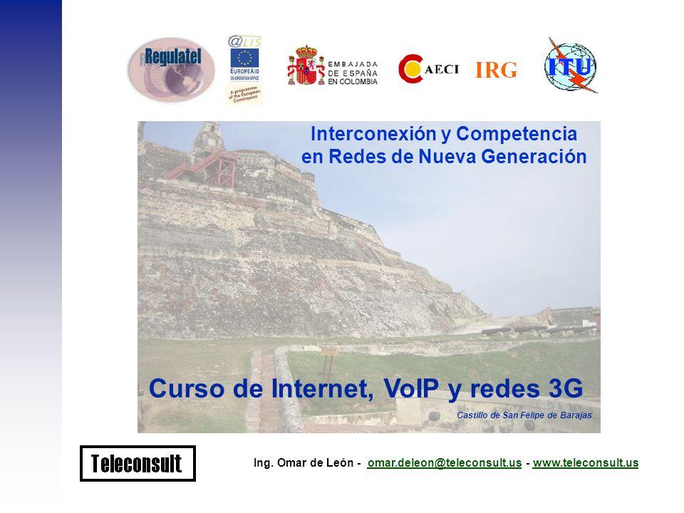 Interconexión y Competencia en Redes de Nueva Generación Ing. Omar de León - omar.deleon@teleconsult.us - www.teleconsult.usomar.deleon@teleconsult.us