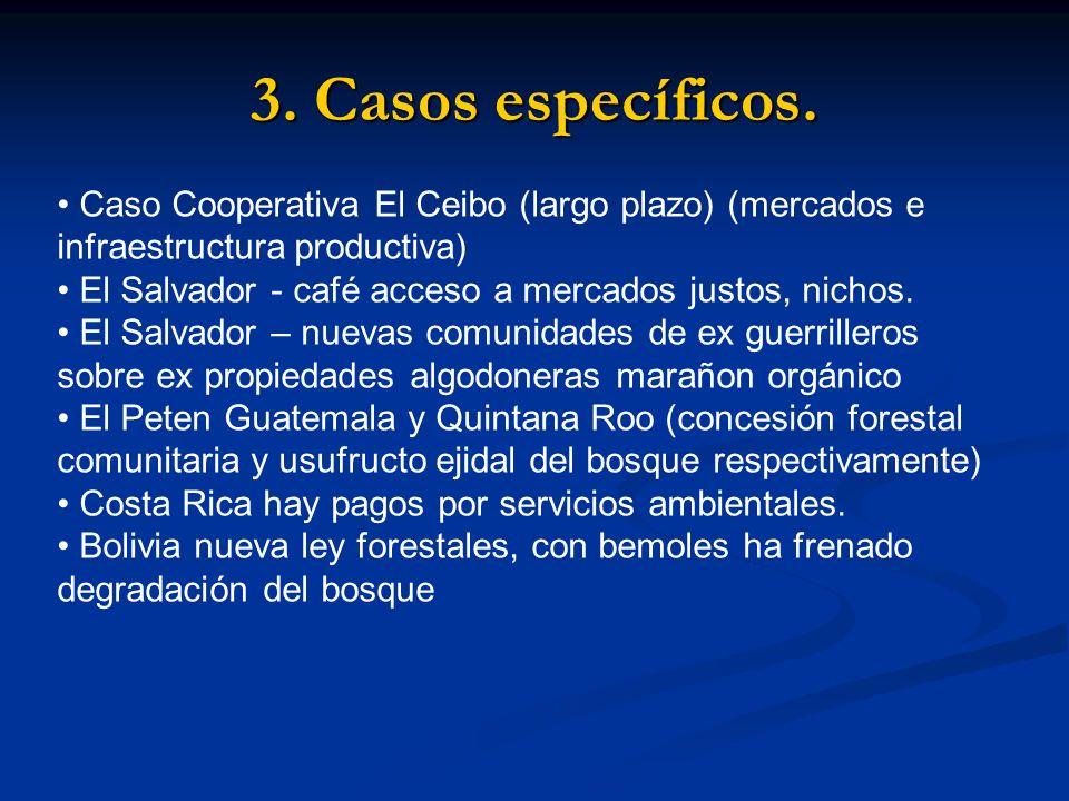 3. Casos específicos.