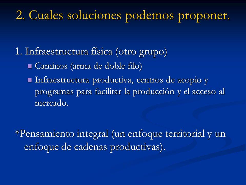 2. Cuales soluciones podemos proponer. 1.