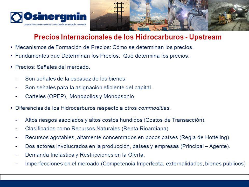 Precios Internacionales de los Hidrocarburos - Upstream Mecanismos de Formación de Precios: Cómo se determinan los precios. Fundamentos que Determinan