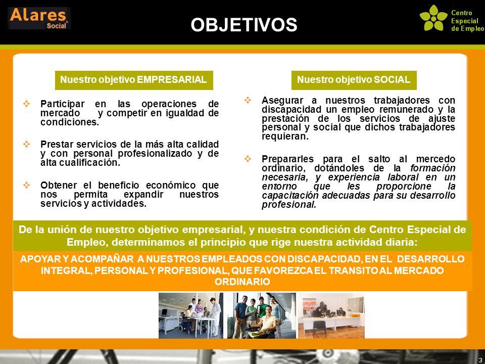 3 Asegurar a nuestros trabajadores con discapacidad un empleo remunerado y la prestación de los servicios de ajuste personal y social que dichos traba