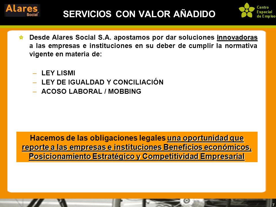 8 SERVICIOS CON VALOR AÑADIDO Alares Social S.A.