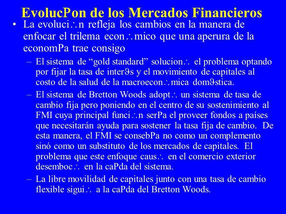 Trilema de la Econom a Abierta Un problema de la econom a abierta es que los gobiernos no pueden mantener simultaneamente la independencia de la pol tica monetaria, la tasa de cambio, y una apertura de las cuentas de capital.