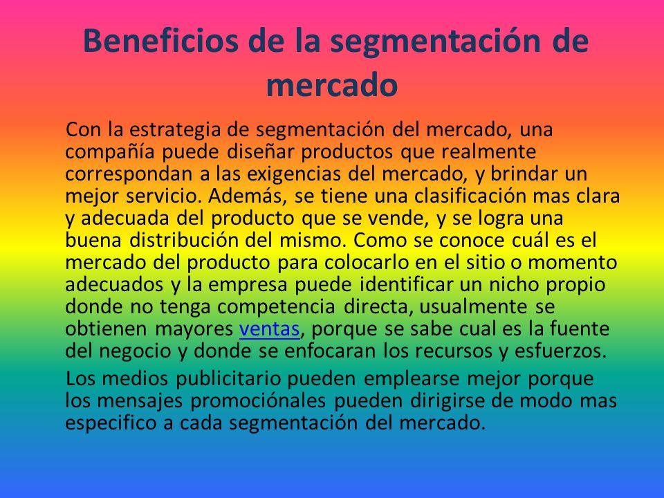 Definición de Segmentación del MercadoSegmentación La segmentación del mercado es el proceso de diferenciación y división del mercado total heterogéneo de un producto o servicio, en un cierto número de subgrupos o segmentos uniformes obtenidos mediante diferentes procedimientos estadísticos.