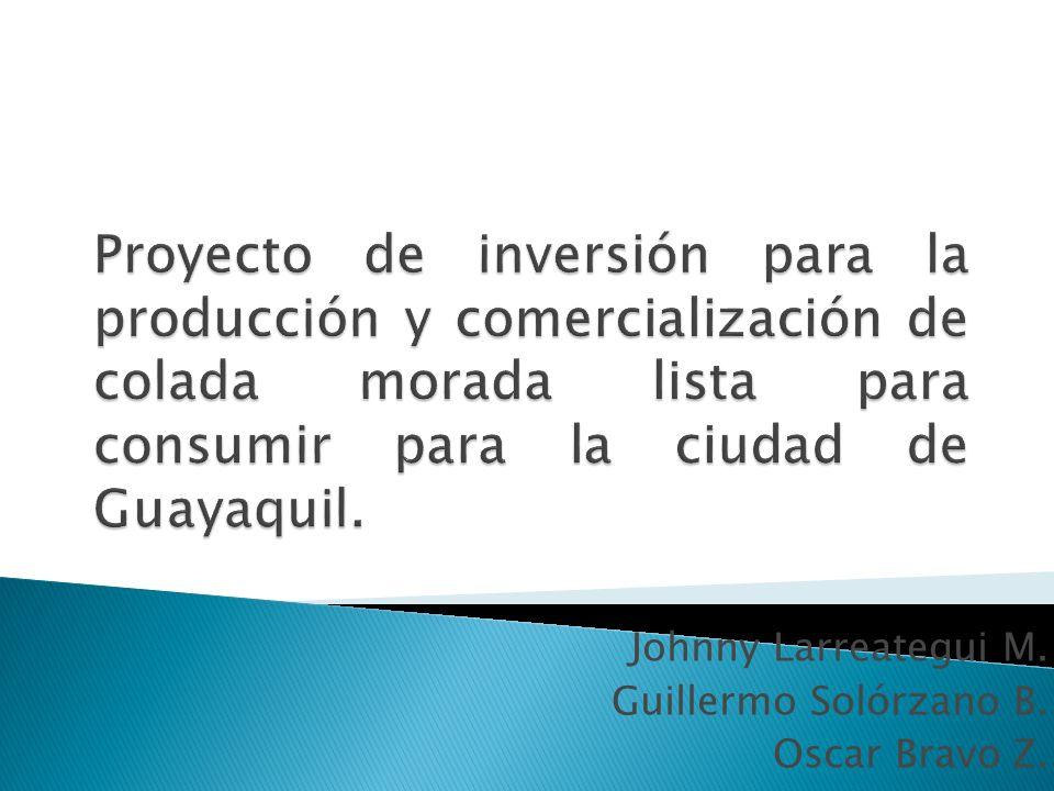 Johnny Larreategui M. Guillermo Solórzano B. Oscar Bravo Z.