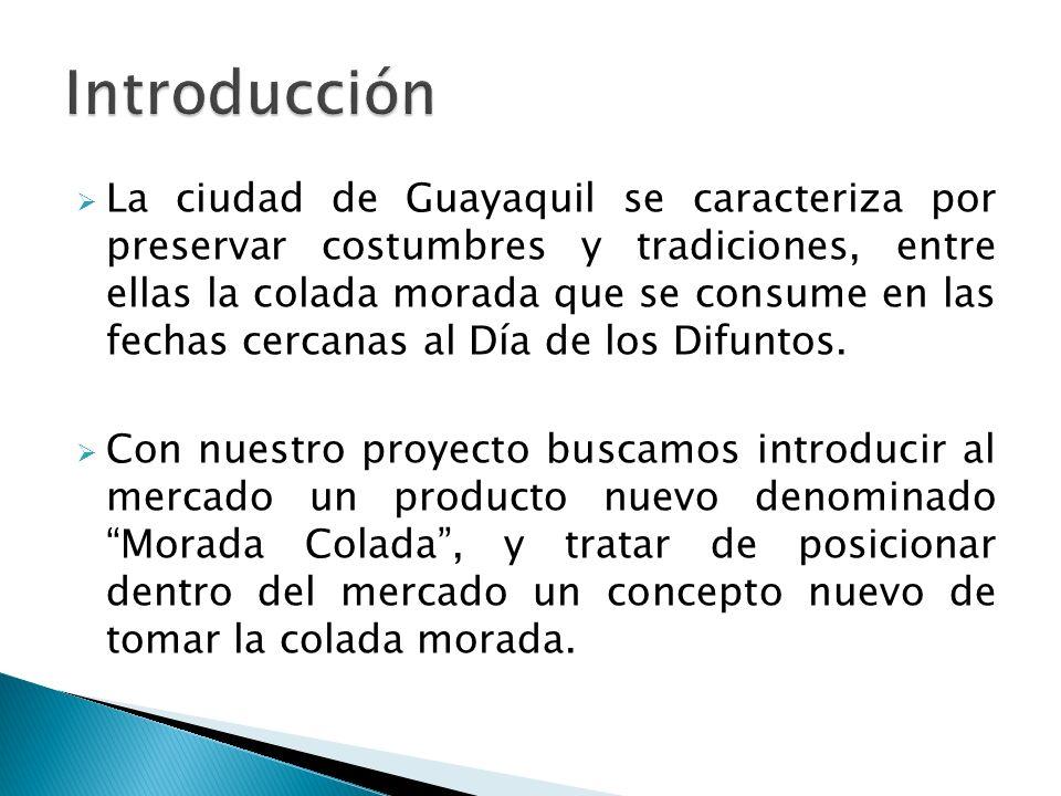 La ciudad de Guayaquil se caracteriza por preservar costumbres y tradiciones, entre ellas la colada morada que se consume en las fechas cercanas al Dí