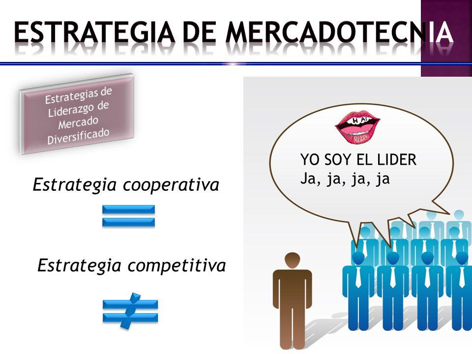 Estrategia cooperativa Estrategia competitiva YO SOY EL LIDER Ja, ja, ja, ja