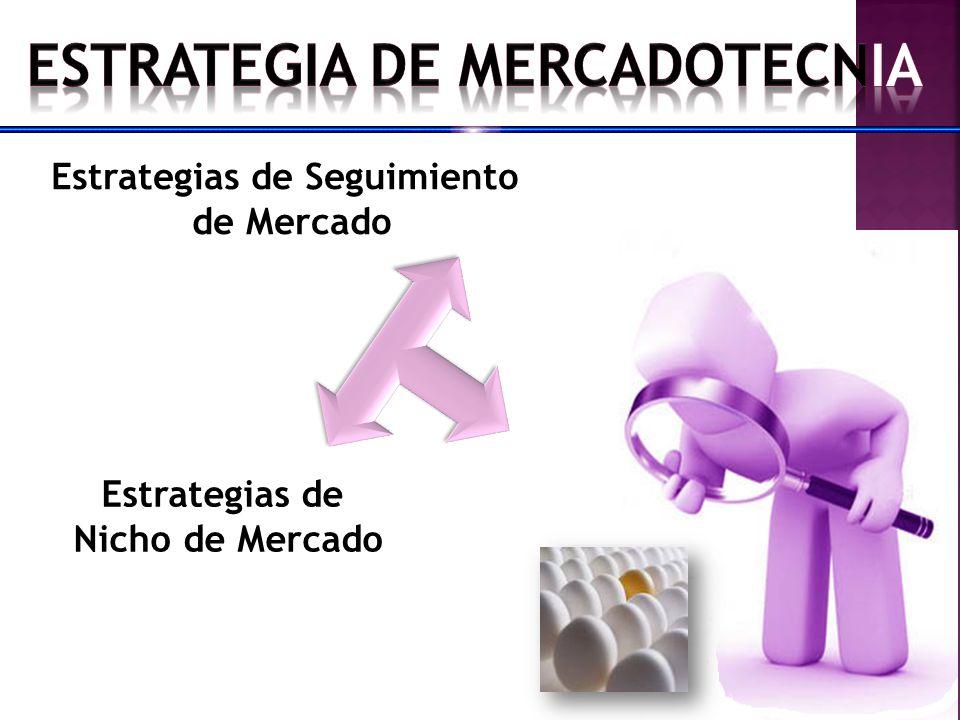 Estrategias de Seguimiento de Mercado Estrategias de Nicho de Mercado