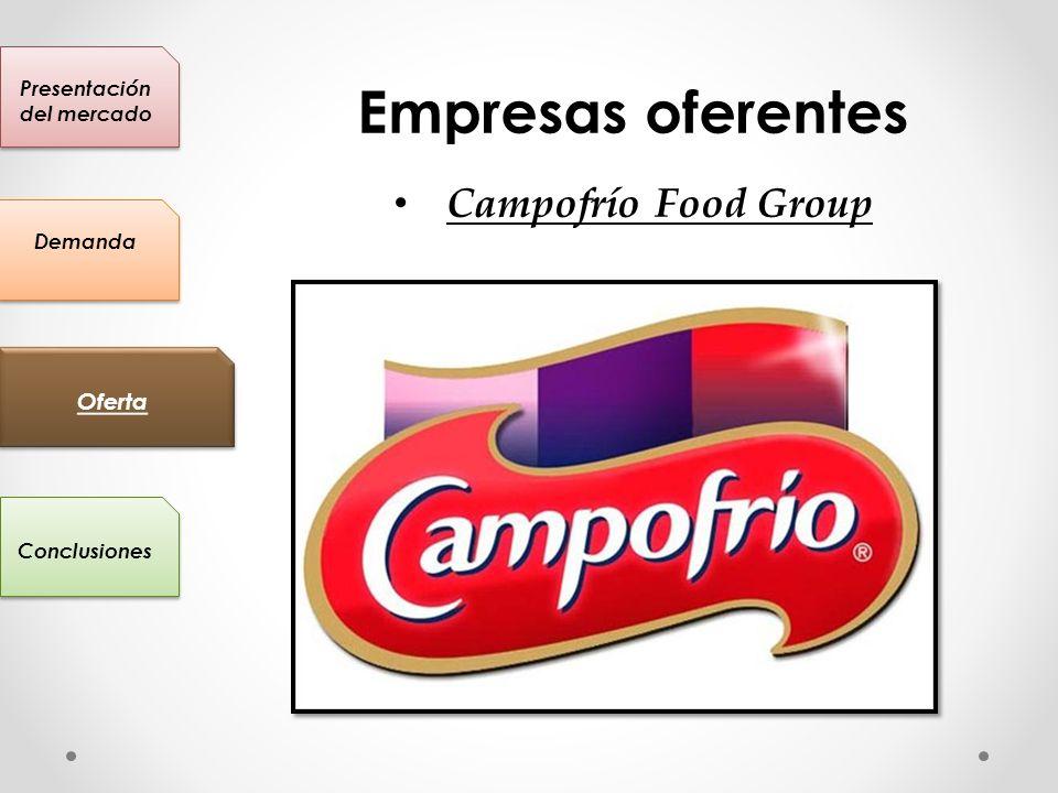 Presentación del mercado Conclusiones Oferta Demanda Empresas oferentes Campofrío Food Group