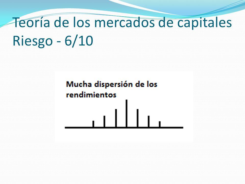 Teoría de los mercados de capitales Riesgo - 6/10