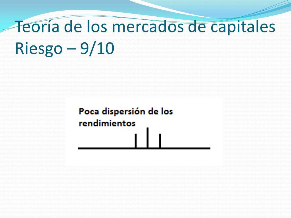 Teoría de los mercados de capitales Riesgo – 9/10