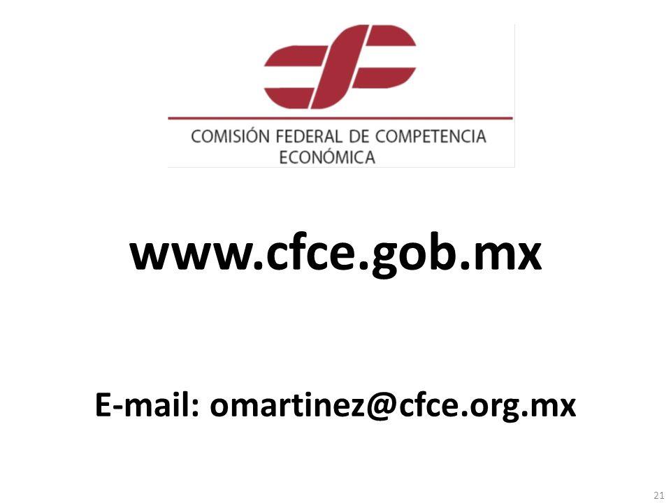 www.cfce.gob.mx 21 E-mail: omartinez@cfce.org.mx