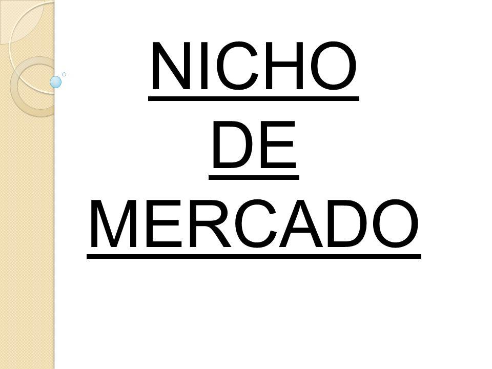 NICHO DE MERCADO