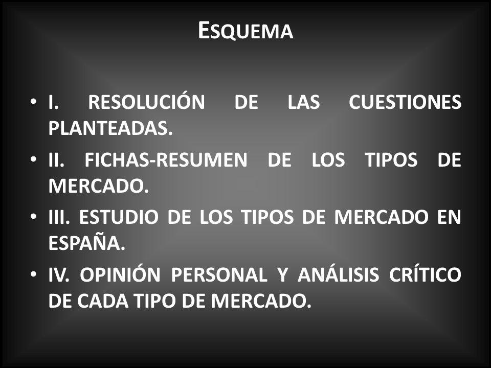 E SQUEMA I.RESOLUCIÓN DE LAS CUESTIONES PLANTEADAS.