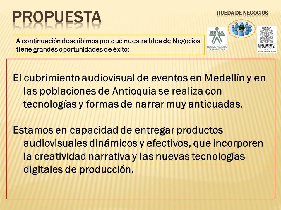 A continuación describimos por qué nuestra Idea de Negocios tiene grandes oportunidades de éxito: El cubrimiento audiovisual de eventos en Medellín y