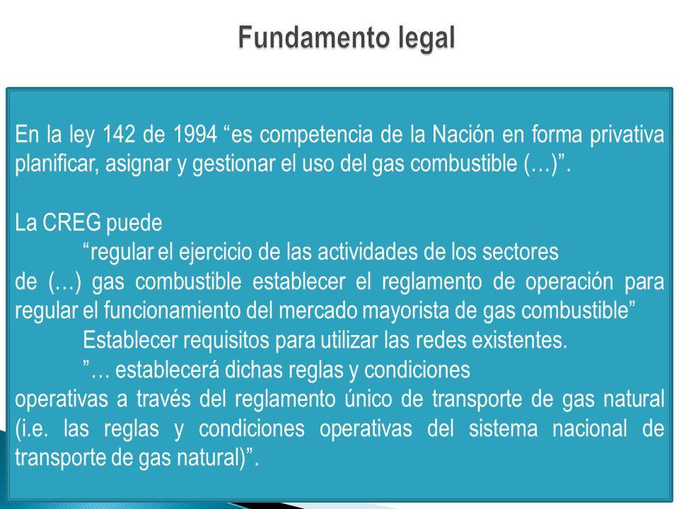 En la ley 142 de 1994 es competencia de la Nación en forma privativa planificar, asignar y gestionar el uso del gas combustible (…).