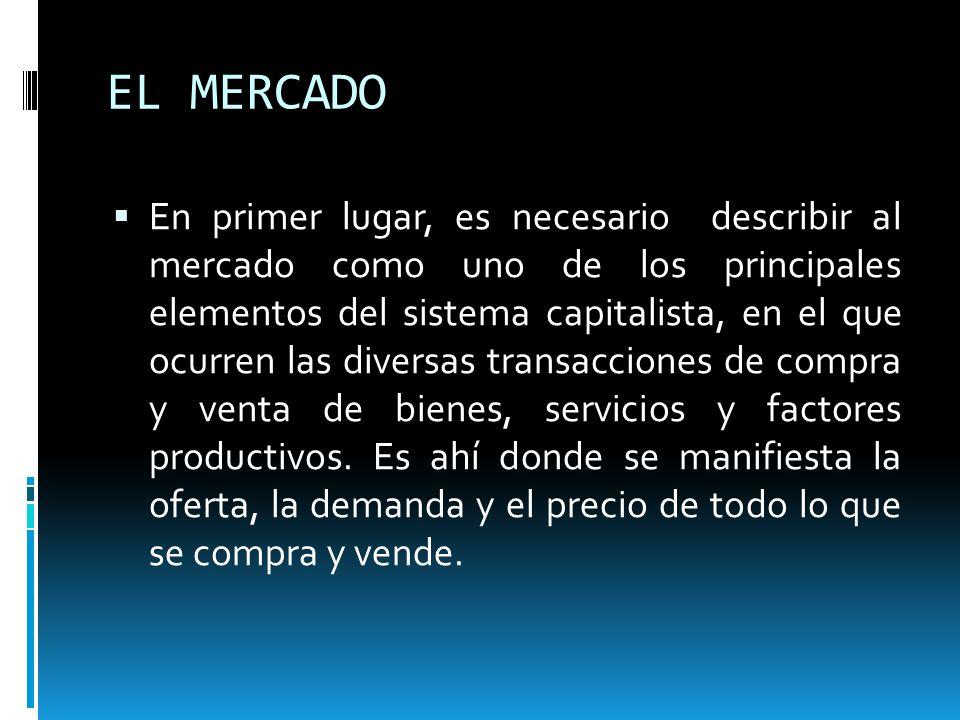DEFINICIÓN DE MERCADO Es importante la definición de mercado, de ahí que se tengan múltiples definiciones dependiendo de diferentes perspectivas, aquí se presentan algunas de ellas: 1.