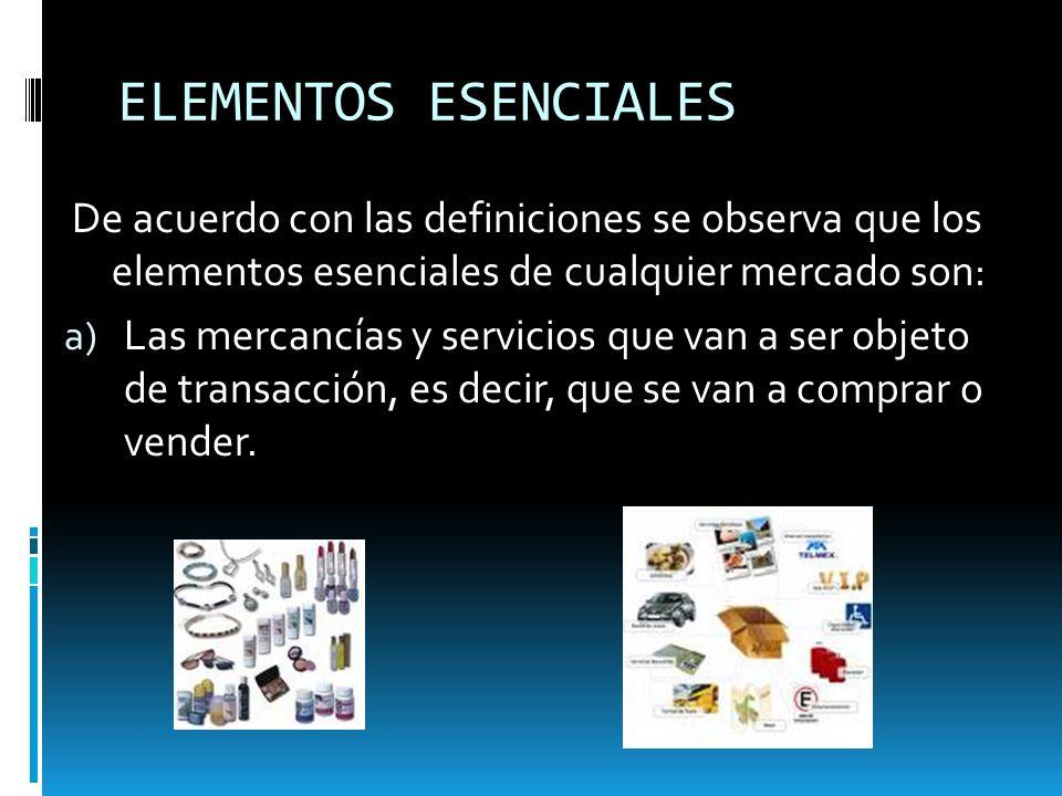 b) La oferta de mercancías y servicios que representa la producción de las unidades económicas que concurren al mercado para su venta.