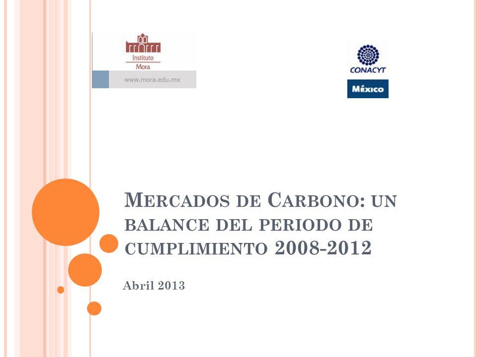 M ERCADOS DE C ARBONO : UN BALANCE DEL PERIODO DE CUMPLIMIENTO 2008-2012 Abril 2013