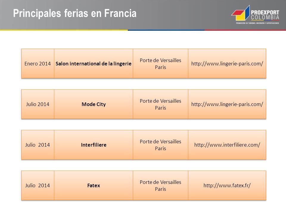 Principales ferias en Francia