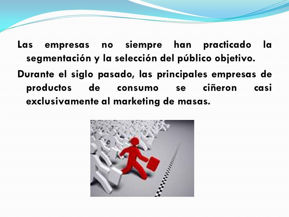 Estrategias de segmentos múltiples E laboran una versión distinta del producto básico para cada segmento, a su vez cada segmento tendrá su propio programa de marketing.