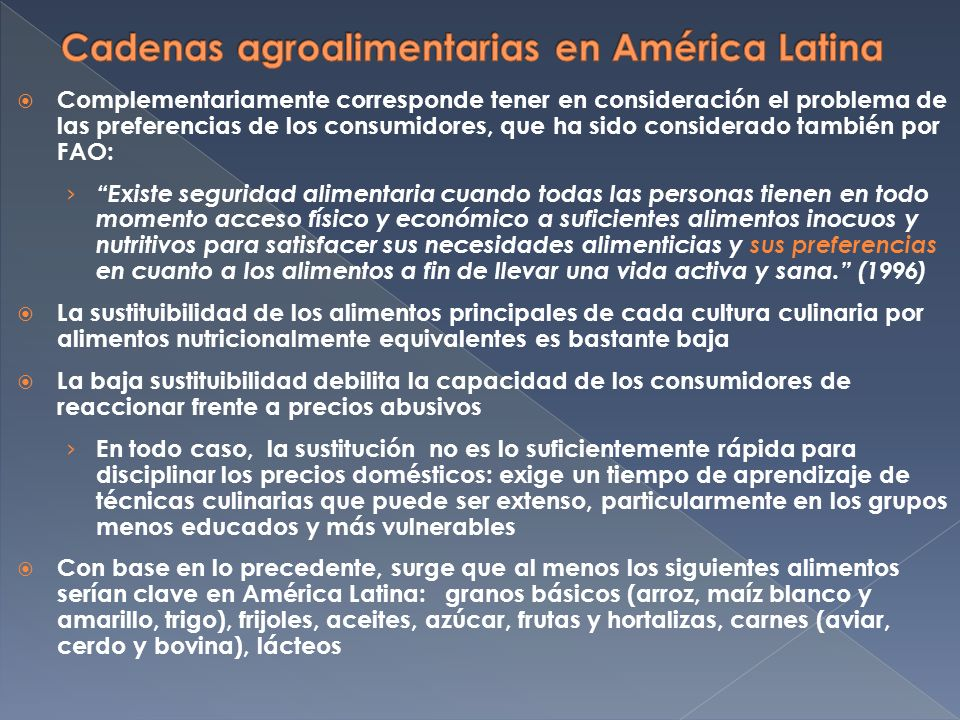 PaísSectorProcedimientoResultado Costa RicaArroz Estudio Sectorial de Competencia PreventivoFinalizado El SalvadorArroz Estudio Sectorial de Competencia PreventivoEn curso PanamáArrozCartelRepresivoCerrada sin sanción PanamáArrozEstudio de PreciosPreventivoCerrado ColombiaArroz (industria) Cartel: precio a productores Represivo Multa: 2531 millones de pesos PanamáAzúcar (industria)CartelRepresivoEn curso (sede judicial) HondurasAzúcar (industria)CartelRepresivoSd México Harina de maíz blanco y tortillas CartelRepresivoCerrada sin sanción MéxicoHarina de maíz y trigo Notificación de Concentración Preventivo NO autorizada, pero la decisión quedó revertida por la Justicia