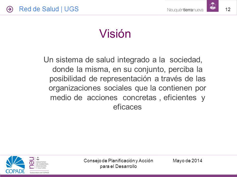 Un sistema de salud integrado a la sociedad, donde la misma, en su conjunto, perciba la posibilidad de representación a través de las organizaciones s