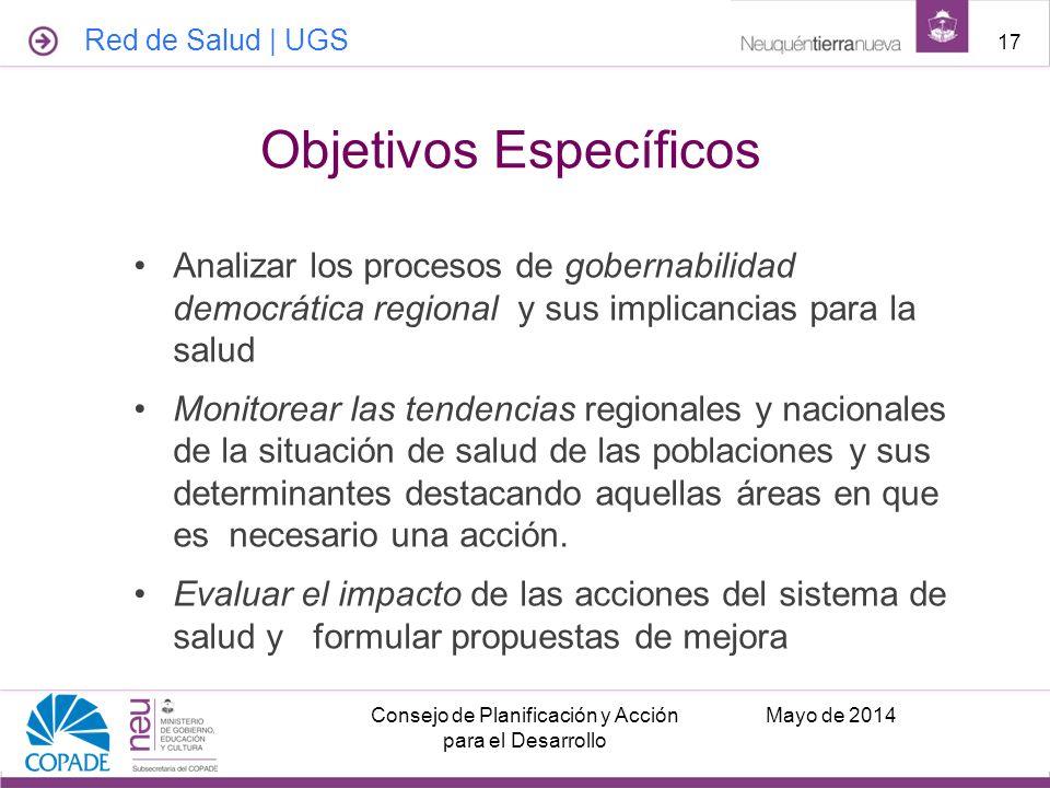 Analizar los procesos de gobernabilidad democrática regional y sus implicancias para la salud Monitorear las tendencias regionales y nacionales de la