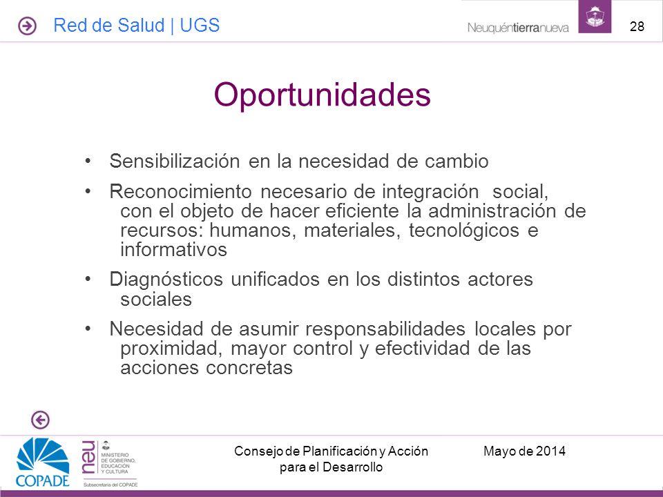 Sensibilización en la necesidad de cambio Reconocimiento necesario de integración social, con el objeto de hacer eficiente la administración de recurs