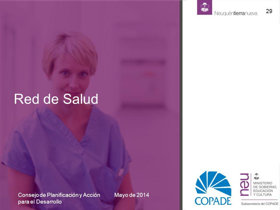 Red de Salud Mayo de 2014Consejo de Planificación y Acción para el Desarrollo 29