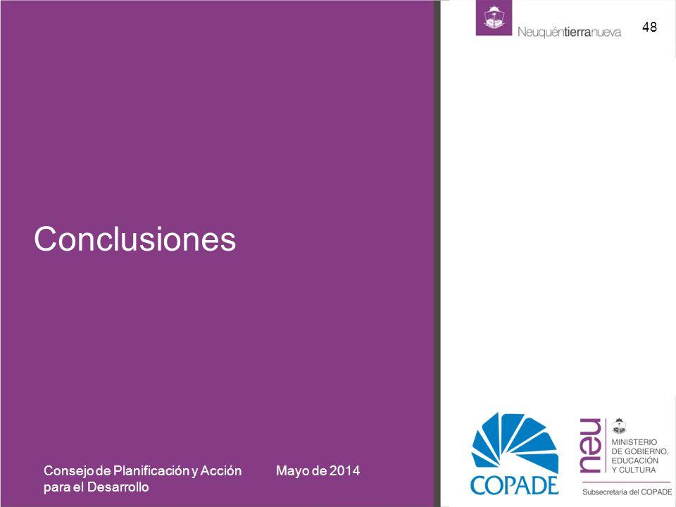 Conclusiones Mayo de 2014Consejo de Planificación y Acción para el Desarrollo 48