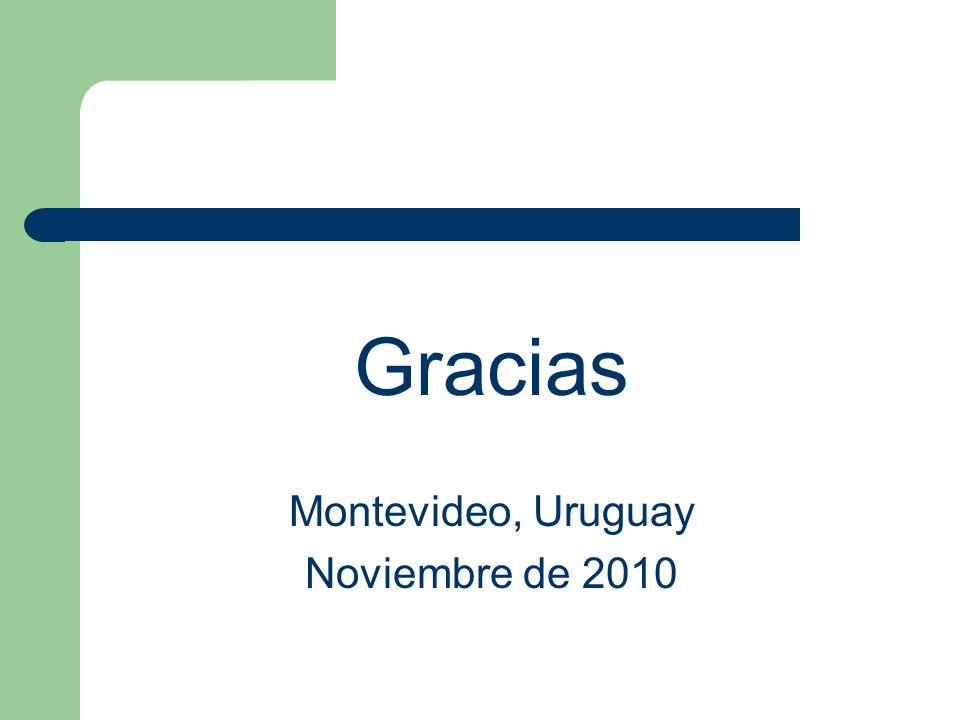 Gracias Montevideo, Uruguay Noviembre de 2010