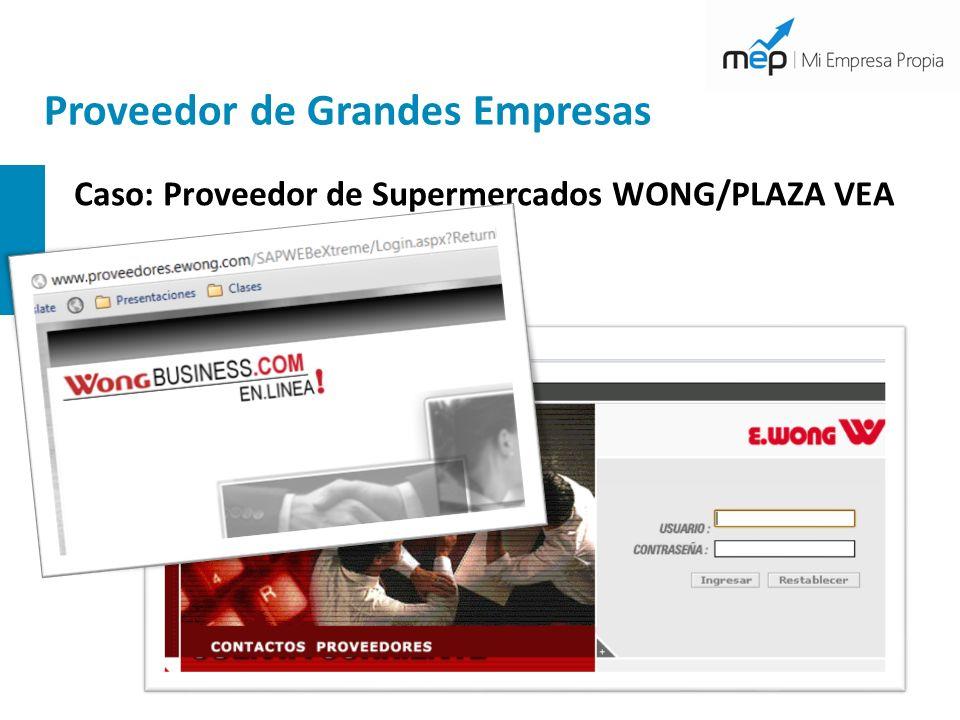 Proveedor de Grandes Empresas Caso: Proveedor de Supermercados WONG/PLAZA VEA