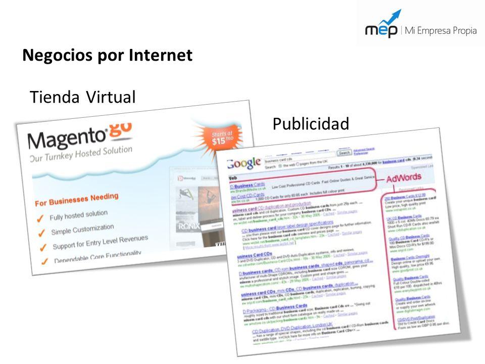 Negocios por Internet Tienda Virtual Publicidad