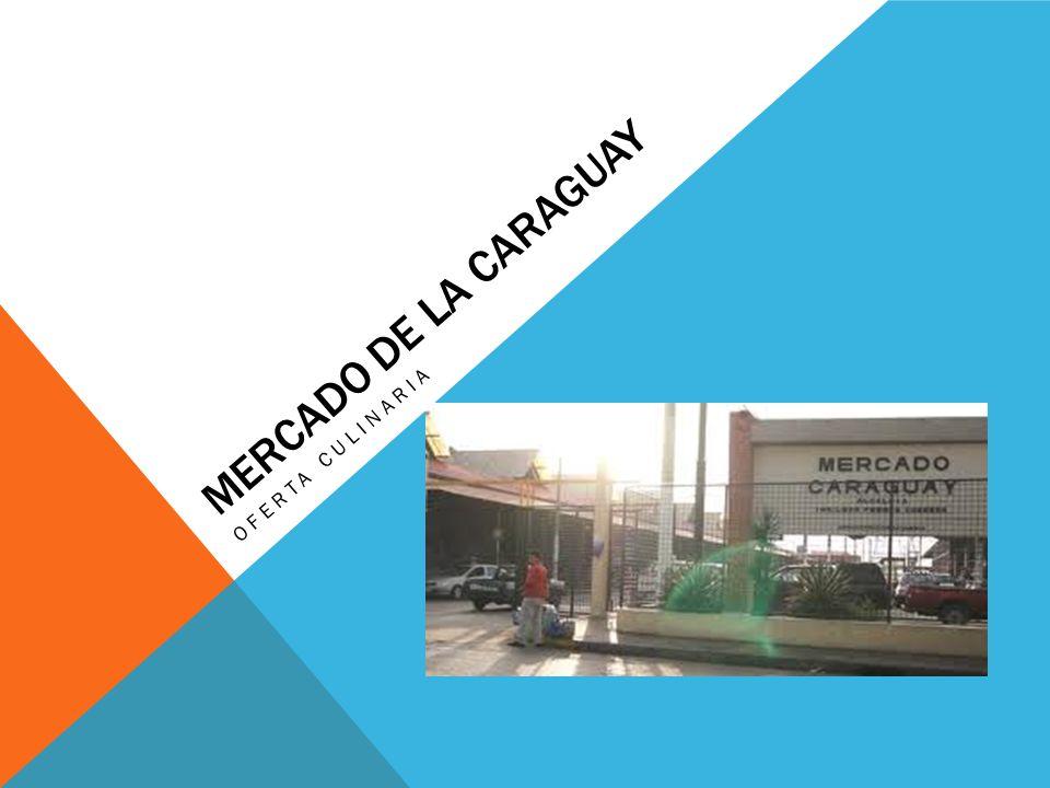 MERCADO DE LA CARAGUAY OFERTA CULINARIA