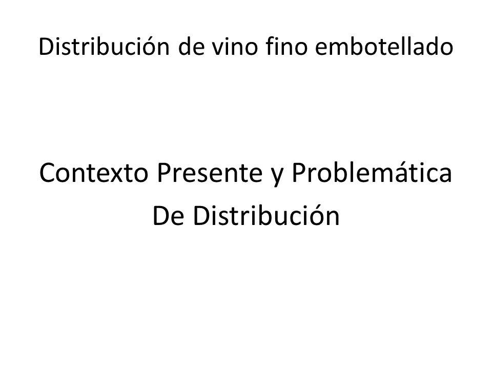Distribución de vino fino embotellado Contexto Presente y Problemática De Distribución