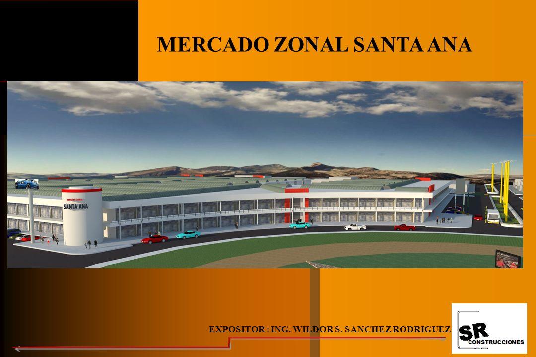 MERCADO ZONAL SANTA ANA EXPOSITOR : ING. WILDOR S. SANCHEZ RODRIGUEZ