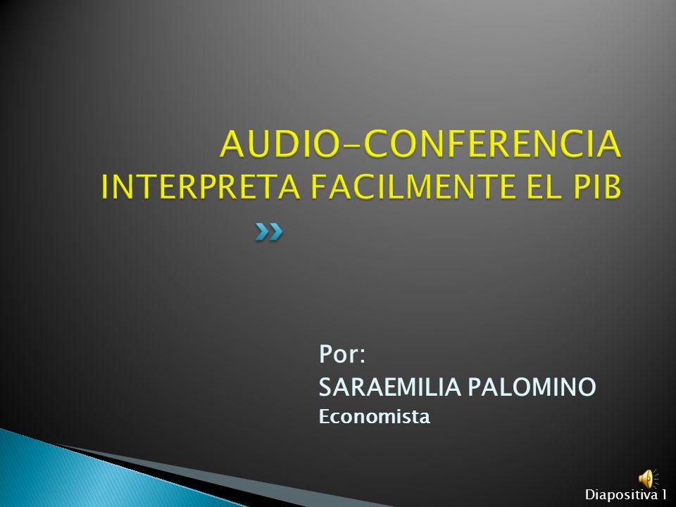 Por: SARAEMILIA PALOMINO Economista Diapositiva 1