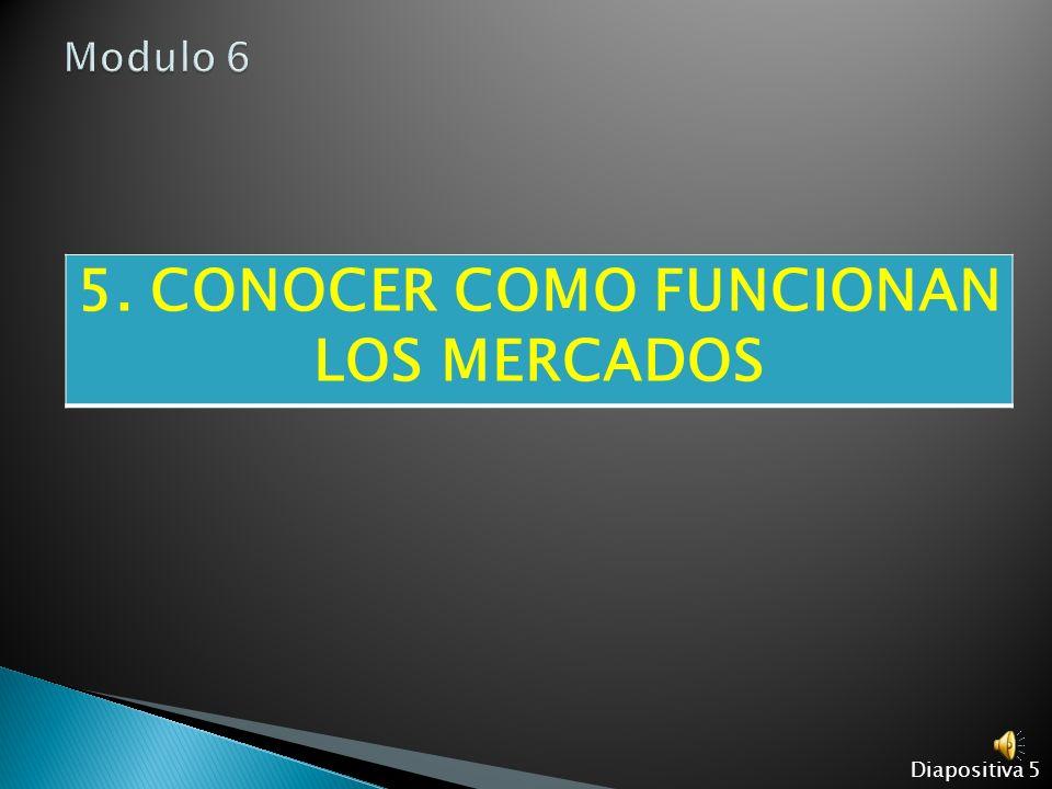 5. CONOCER COMO FUNCIONAN LOS MERCADOS Diapositiva 5