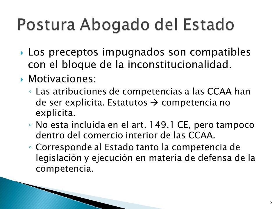 6 Los preceptos impugnados son compatibles con el bloque de la inconstitucionalidad. Motivaciones: Las atribuciones de competencias a las CCAA han de