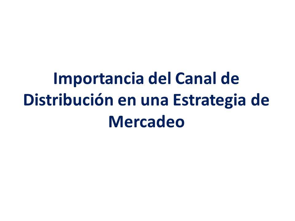 Importancia del Canal de Distribución en una Estrategia de Mercadeo