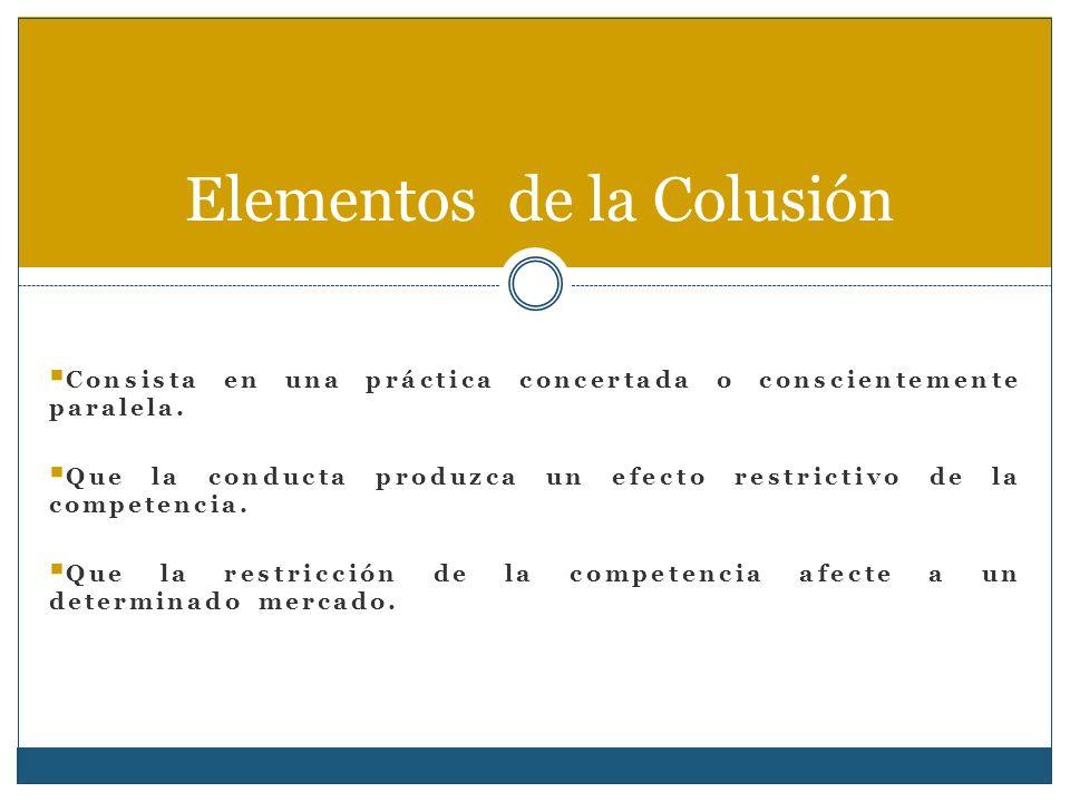 Características de la Colusión Aspectos Negativos Aspectos positivos