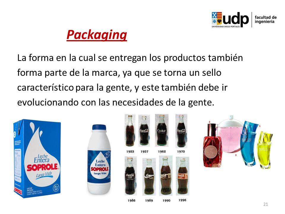 La forma en la cual se entregan los productos también forma parte de la marca, ya que se torna un sello característico para la gente, y este también d