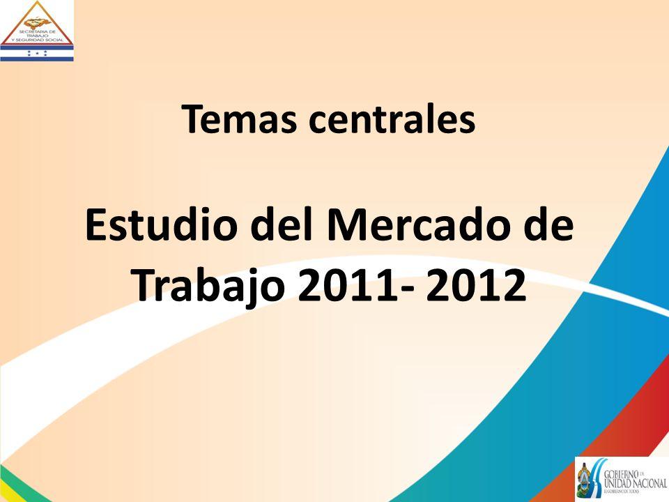Temas centrales Estudio del Mercado de Trabajo 2011- 2012