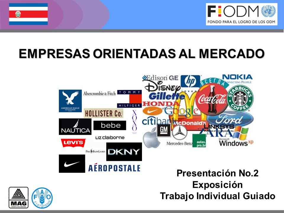 EMPRESAS ORIENTADAS AL MERCADO Presentación No.2 Exposición Trabajo Individual Guiado