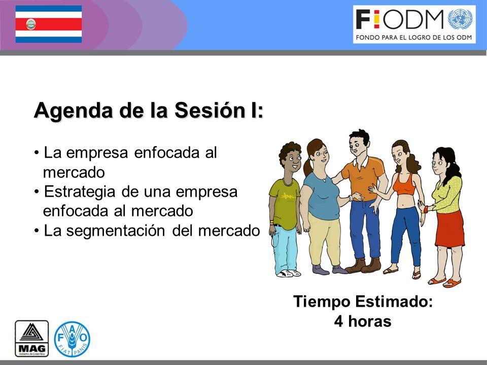 Agenda de la Sesión I: Tiempo Estimado: 4 horas La empresa enfocada al mercado Estrategia de una empresa enfocada al mercado La segmentación del merca