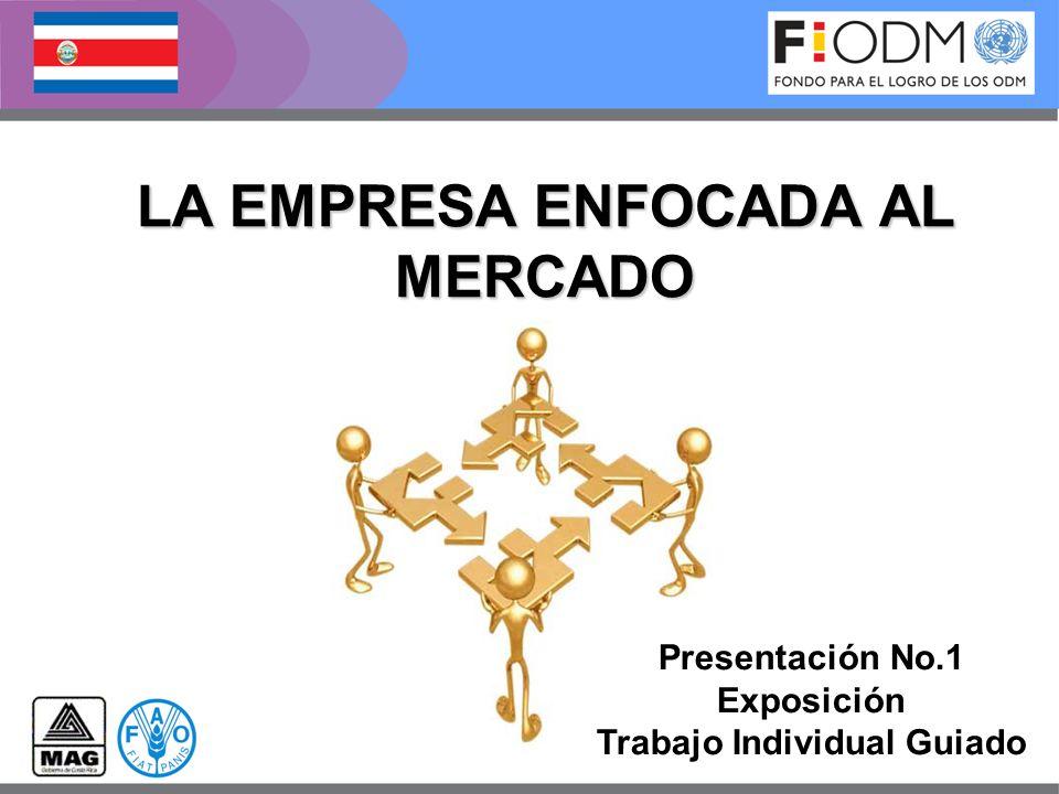 LA EMPRESA ENFOCADA AL MERCADO Presentación No.1 Exposición Trabajo Individual Guiado