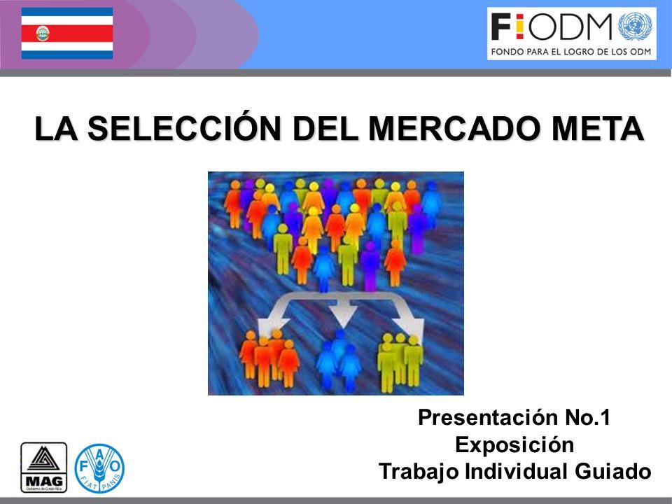 LA SELECCIÓN DEL MERCADO META Presentación No.1 Exposición Trabajo Individual Guiado