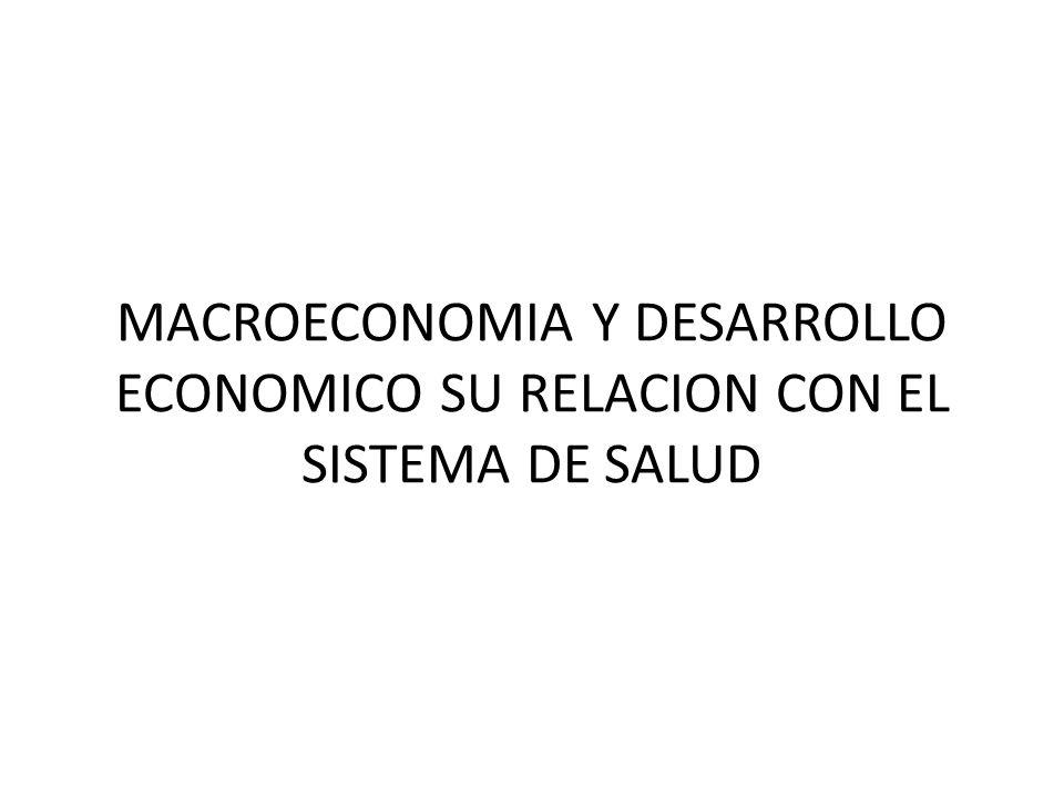MACROECONOMIA Y DESARROLLO ECONOMICO SU RELACION CON EL SISTEMA DE SALUD